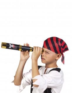 Fernrohr Kostümzubehör Piraten schwarz-gold 32 x 4 cm