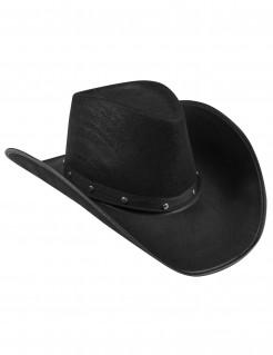 Schwarzer Cowboy-Hut für Erwachsene
