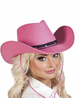 Cowboy Hut Cowgirl Kopfbedeckung rosa