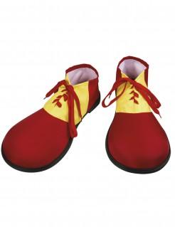 Clown-Schuhe für Erwachsene Kostümaccessoire rot-gelb 35 x 17 cm