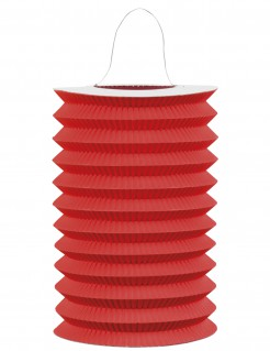 Lampion aus Papier Partydekoration rot 15 cm Durchmesser