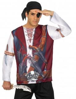Piraten Herren-T-Shirt Seeräuber-Shirt bunt