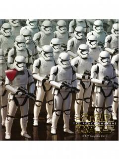 Papierservietten Star Wars VII Lizenzartikel 20 Stück weiß-grau 33 x 33 cm