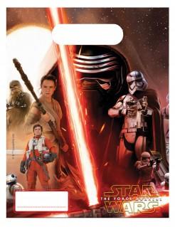 Geschenktüten Star Wars VII Lizenzartikel 6 Stück rottöne 23 x 16 cm