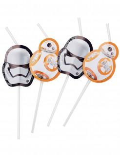 Star Wars VII Lizenzartikel Strohhalme 6 Stück verschiedene Motive mehrfarbig 23cm lang