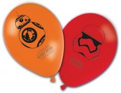 Luftballons Star Wars VII bedruckt 8 Stück verschiedenen Motive rot orange