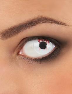 Kontaktlinsen Schnittwunde weiss-rot