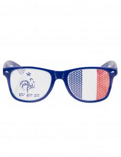 Frankreich Fan Brille FFF Lizenzartikel Fußball blau-weiß-rot