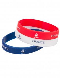 Frankreich Fan Armbänder FFF Lizenzartikel Fußball 2 Stück blau-weiß-rot