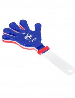 Frankreich Fan Klapperhand FFF Lizenzartikel Fußball blau-weiß-rot 19 x 9 cm