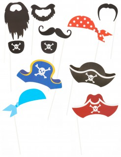 Piraten-Schilder für Kinder 12 Stück bunt