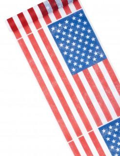 USA Läufer Tischdekoration rot-blau-weiß 5 m x 30 cm