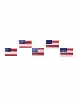 USA Girlande Raumdekoration rot-blau-weiß 13 x 20 cm Fahnen 5 m lang
