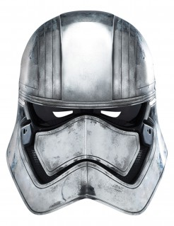 Captain Phasma Pappmaske Star Wars VII™ Film-Maske silber