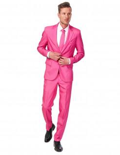 Suitmeister Anzug einfarbig Plus Size pink