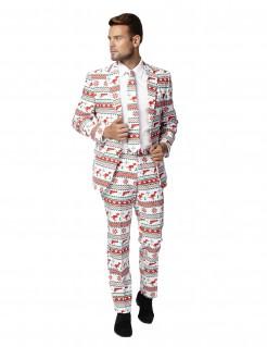 Opposuits Weihnachts-Anzug Dinos und Waffen Plus Size weiss-rot-grün