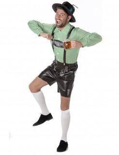 Bayer Herren-Kostüm braun-grün-weiss