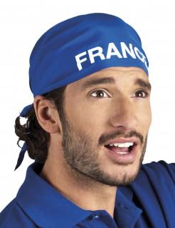 Frankreich Bandana Kopftuch blau-weiss