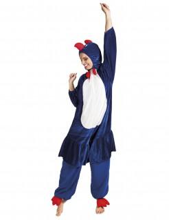 Huhn-Erwachsenenkostüm Tier blau