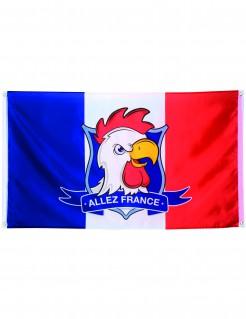 Französische Flagge Allez France mit Ösen blau-weiss-rot 90x150cm