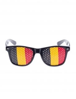 Belgien-Brille Länder-Fanartikel rot-schwarz-gelb