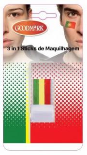 Fan-Schminke Portugal grün-gelb-rot 2,9g