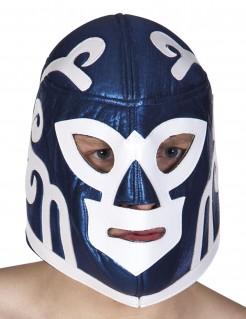 Wrestling-Maske blau-weiss