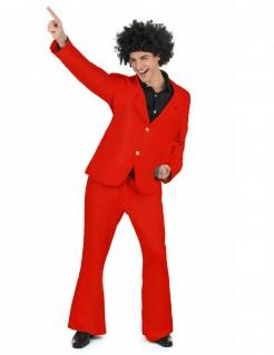 Disco-Kostüm 70er-Jahre-Anzug rot