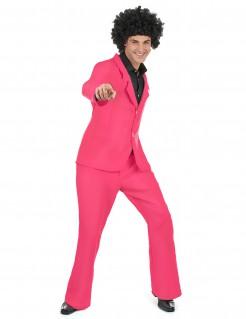 70er Jahre Disco Herrenkostüm rosa