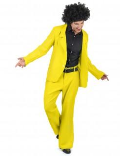Disco-Anzug Disco-Kostüm gelb