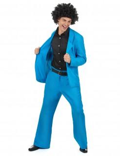 80er Disco Herrenkostüm blau