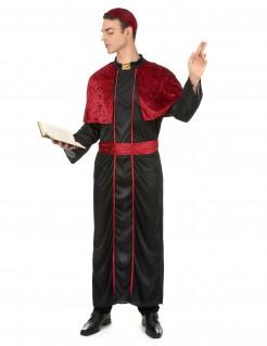 Bischof Herren-Kostüm schwarz-rot