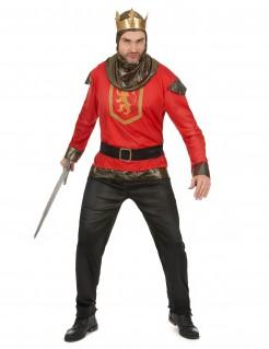 Mittelalter Ritter-Kostüm rot-schwarz-gold