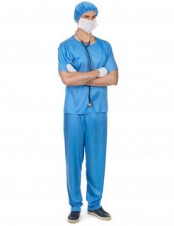 Chirurg Herrenkostüm blau-weiss