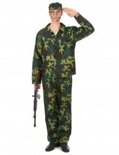 Tarnanzug Soldatenkostüm für Männer camouflage