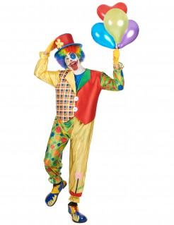 Glänzendes Clown-Herrenkostüm Zirkus bunt