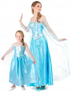Elsa™-Paarkostüm Frozen™ Mutter und Tochter Fasching blau