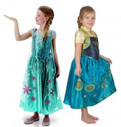 Disney™ Frozen™ Die Eiskönigin Anna und Elsa Kostüm-Set für Mädchen bunt