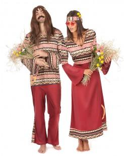 Hippie Paarkostüm-Set bunt