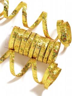 Luftschlangen 10 Stück gold 2m