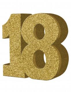 Geburtstagsparty Tischdeko Zahl 18 gold 20x20cm