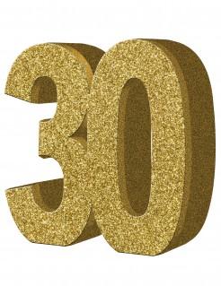 Geburtstagsparty Tischdeko Zahl 30 gold 20x20cm