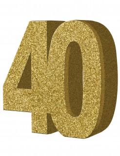 Geburtstagsparty Tischdeko Zahl 40 gold 20x20cm