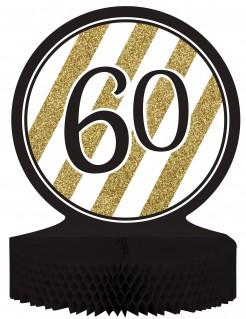 Geburtstags-Tischaufsteller 60 Jahre schwarz-gold