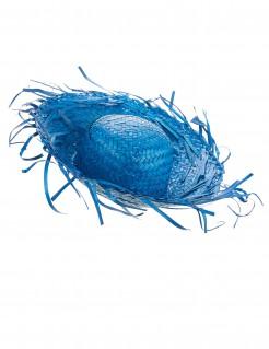 Strohhut Partyhut für Erwachsene blau
