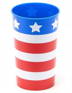 USA-Trinkbecher Amerika-Becher Länder-Fanartikel rot-weiss-blau 650ml