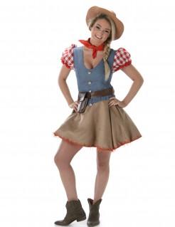 Cowgirl Damen-Kostüm bunt