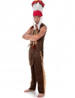 Indianer-Häuptling Kostüm Western braun-bunt