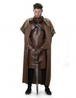 Ritter-Herrenkostüm Mittelalter König des Nordens braun