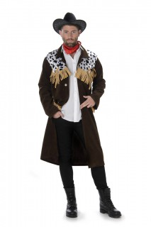 Cowboy-Herrenkostüm Wilder Westen braun